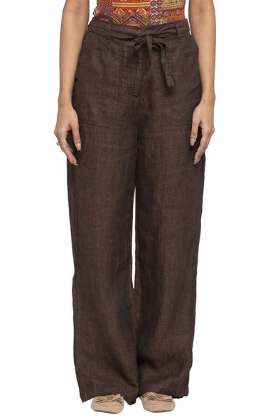 Women's Linen Coco Regular Fit Pants Cottonworld Women's Pants