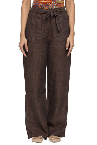 Cottonworld Women's Pants WOMEN'S 100% LINEN COCO REGULAR FIT PANTS