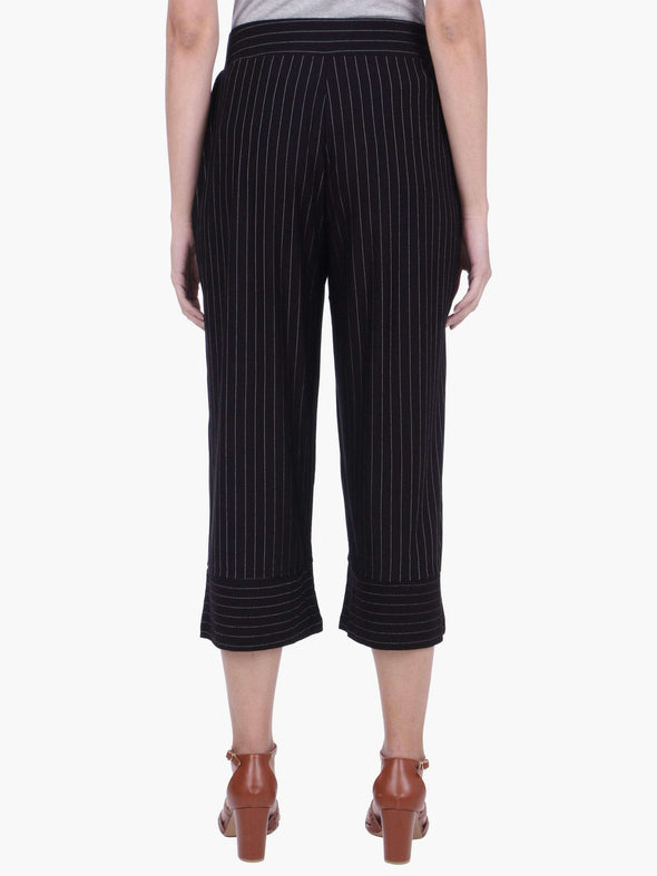 Women's 93% Viscose 2% Polyster 5% Elastane Black Regular Fit Kpants Cottonworld Women's Pants