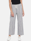 Women's Cotton Flax Offwhite Regular Fit Pants Cottonworld Women's Pants