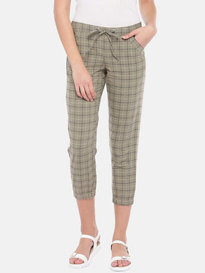 Women's Cotton Linen Khaki Jogger Pants Cottonworld Women's Pants