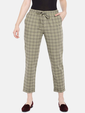 Women's Cotton Linen Khaki Regular Fit Pants Cottonworld Women's Pants