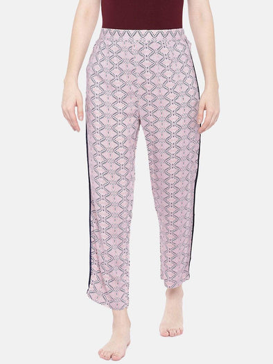 Women's Viscose Pink Regular Fit Pajama Cottonworld Women's Pants