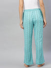 Cottonworld Women's Pants Women's Viscose Sky Blue Regular Fit Pajama