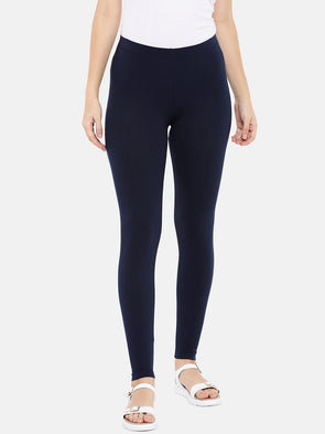 Cottonworld Women's Pants XLarge / NAVY Women's Cotton Elastane Navy Regular Fit Ktights
