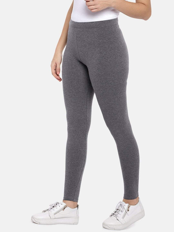 Cottonworld Women's Pants XSMALL / CHARCOAL Women's Cotton Elastane Charcoal Regular Fit Ktights
