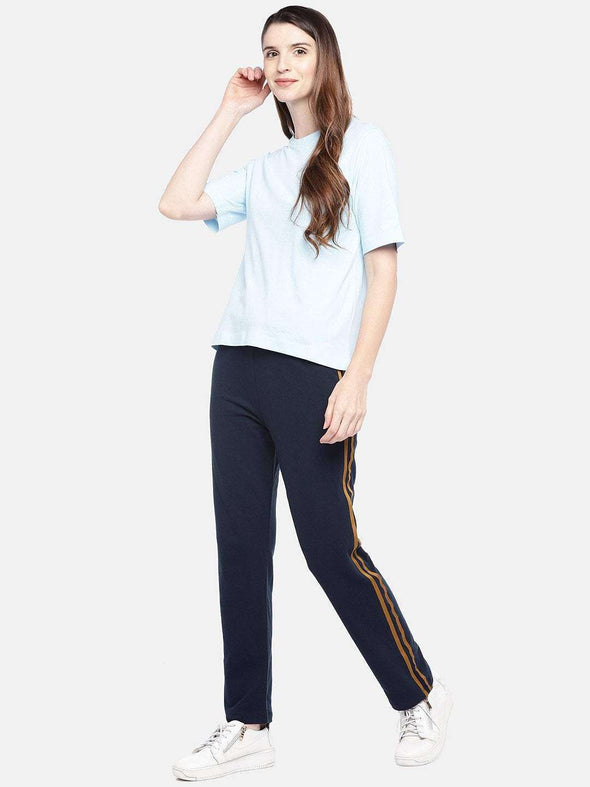 Women's Cotton Navy Regular Fit Kpants Cottonworld Women's Pants