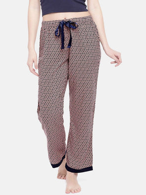 Women's Viscose Woven Peach Regular Fit Pyjama Cottonworld Women's Pants
