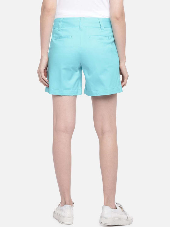 Women's Cotton Lycra Sky Regular Fit Shorts Cottonworld Women's Shorts