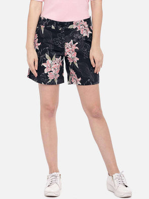 Women's Cotton Multi Regular Fit Shorts Cottonworld Women's Shorts