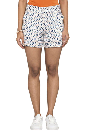 Cottonworld Women's Shorts WOMEN'S 100% VISCOSE NAVY REGULAR FIT SHORTS