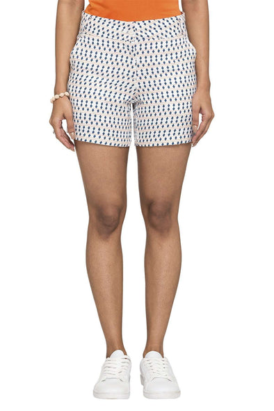 Women's Viscose Navy Regular Fit Shorts Cottonworld Women's Shorts