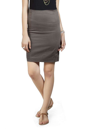 Women Olive Knee Length Pencil Skirt Cottonworld Women's Skirts