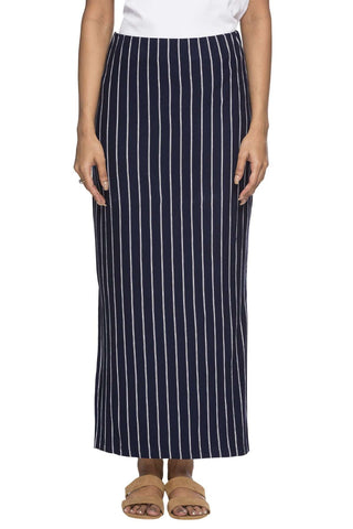 Cottonworld Women's Skirts WOMEN'S 95% VISCOSE 5% ELASTANE NAVY REGULAR FIT SKIRT