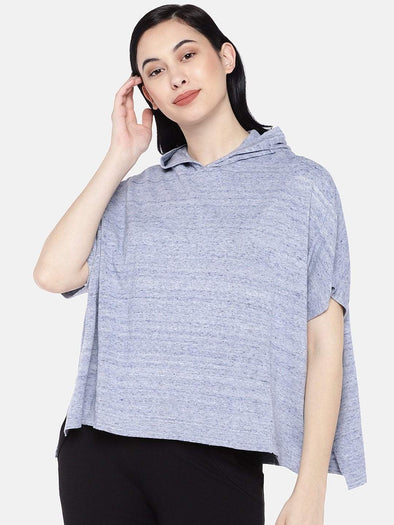 Women's Cotton Blue Melan Regular Fit Sweat Cottonworld Women's Sweater