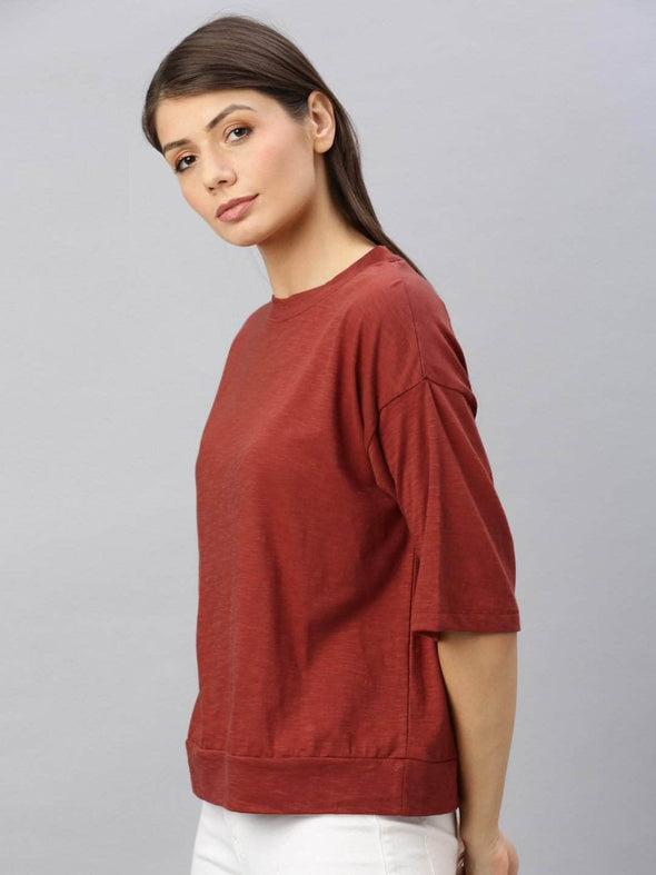Women's Cotton Brick Regular Fit Tshirt Cottonworld Women's Tshirts