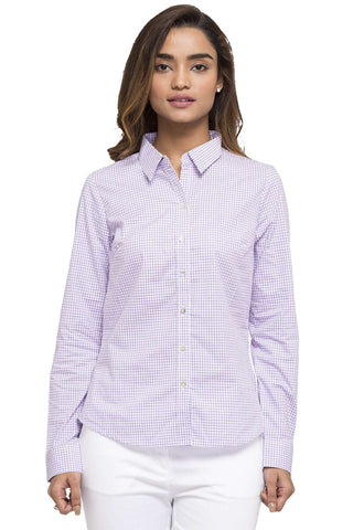 Cottonworld Women's Tops WOMEN'S 100% COTTON LILAC BLOUSE