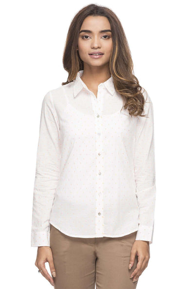 Cottonworld Women's Tops WOMEN'S 100% COTTON WHITE BLOUSE