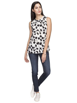 Women's Modal Black Regular Fit Blouse Cottonworld Women's Tops