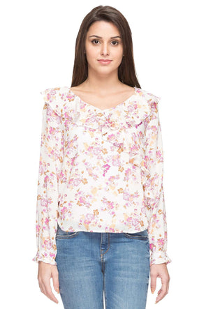 Cottonworld Women's Tops WOMEN'S 100% MODAL PINK REGULAR FIT BLOUSE