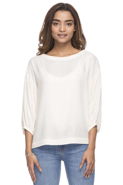 Cottonworld Women's Tops WOMEN'S 100% MODAL WHISPER WH REGULAR FIT BLOUSE