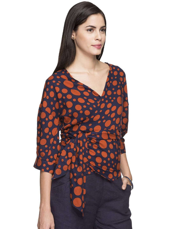 Women's Rayon Red Regular Fit Blouse Cottonworld Women's Tops