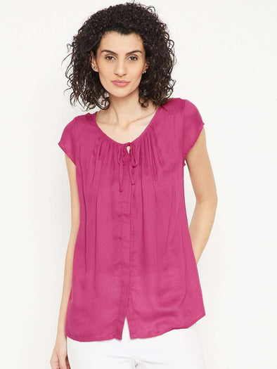 Women's Viscose Cherry Regular Fit Blouse Cottonworld Women's Tops