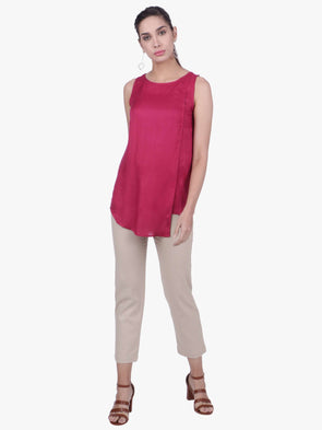 Cottonworld Women's Tops WOMEN'S 100% VISCOSE CHERRY REGULAR FIT BLOUSE