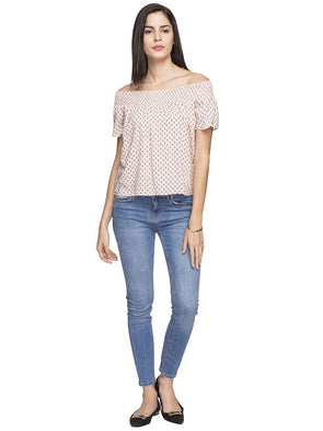 Cottonworld Women's Tops WOMEN'S 100% VISCOSE PEACH REGULAR FIT BLOUSE