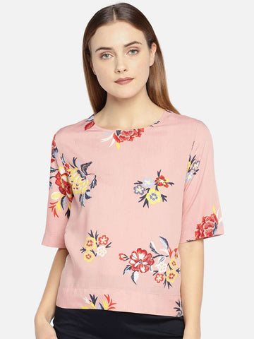 Cottonworld Women's Tops WOMEN'S 100% VISCOSE ROSE REGULAR FIT BLOUSE