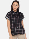 Women's Cotton Black Regular Fit Blouse Cottonworld Women's Tops
