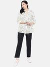 Women's Cotton Flax Offwhite A Line Blouse Cottonworld Women's Tops