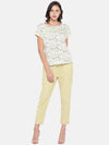 Women's Cotton Flax Woven Offwhite Regular Fit Blouse Cottonworld Women's Tops