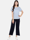 Women's Excel Linen Sky Regular Fit Blouse Cottonworld Women's Tops