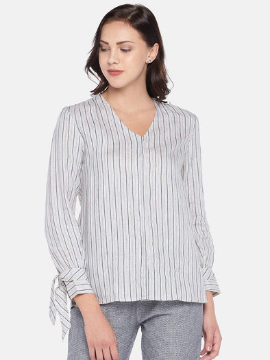 Women's Linen Woven Natural Regular Fit Blouse Cottonworld Women's Tops