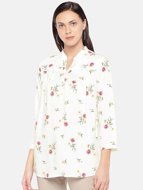 Women's Rayon White Blouse Cottonworld Women's Tops