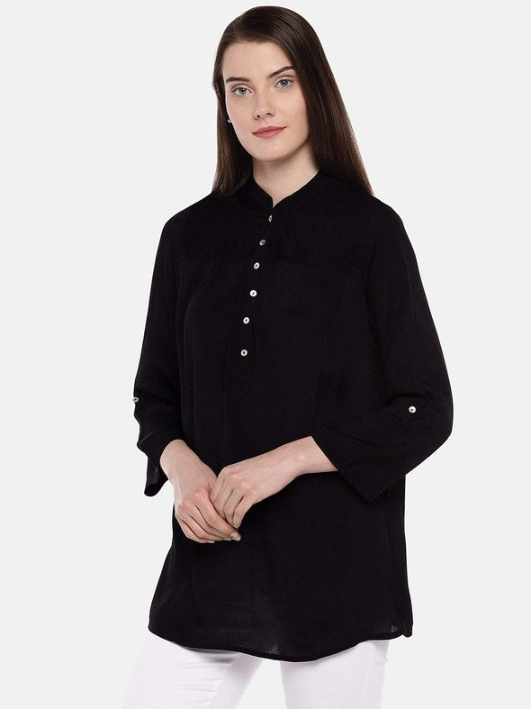 Women's Viscose Black Blouse Cottonworld Women's Tops
