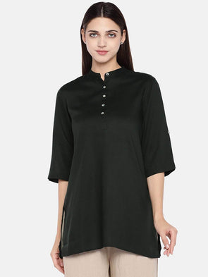 Women's Viscose Green Regular Fit Blouse Cottonworld Women's Tops