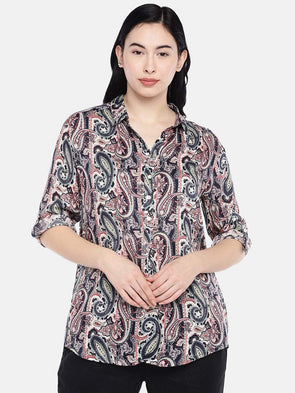 Women's Viscose Multi Regular Fit Blouse Cottonworld Women's Tops