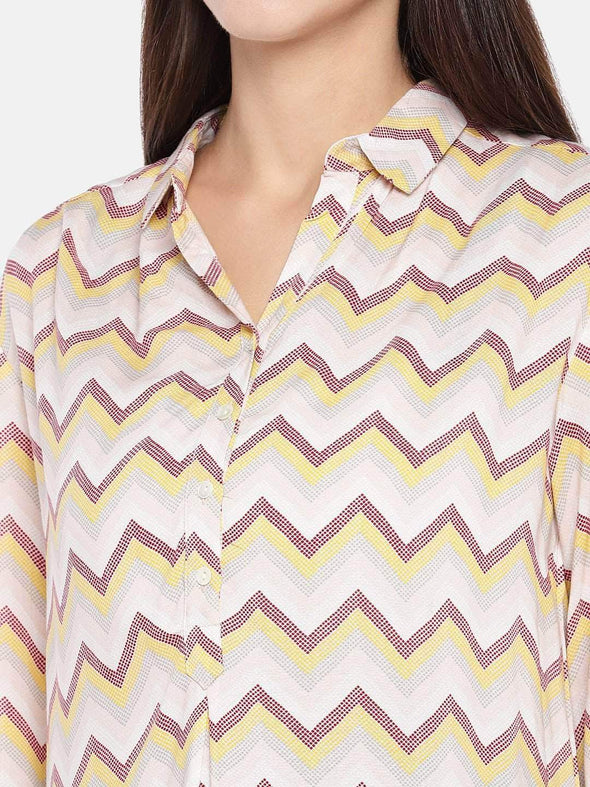 Women's Viscose Pink Regular Fit Blouse Cottonworld Women's Tops
