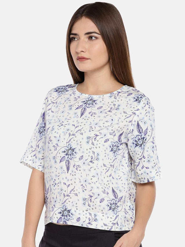 Women's Viscose Woven White Regular Fit Blouse Cottonworld Women's Tops