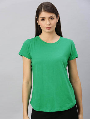 Women's  Cotton Emerald Regular Fit Tshirt Cottonworld Women's Tshirts