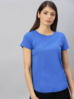 Cottonworld Women's Tshirt Women's  Cotton Royal Regular Fit Tshirt