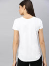 Cottonworld Women's Tshirt Women's  Cotton White Regular Fit Tshirt