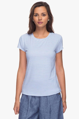 Cottonworld Women's Tshirts Women Blue T-Shirt