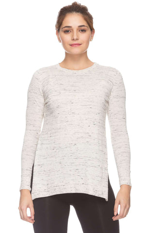 Cottonworld Women's Tshirts Women Grey Mel Regular Solid Cotton T-Shirts