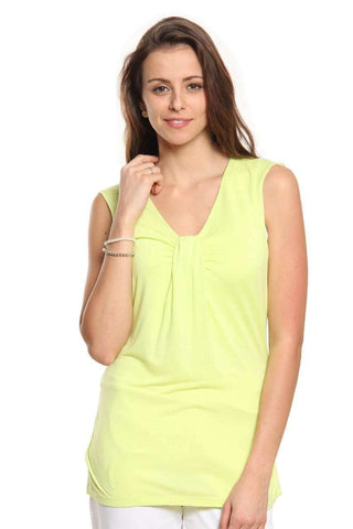 Cottonworld Women's Tshirts Women Lime Green T-Shirt