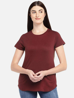 Women's Cotton Cinnamon Regular Fit Tshirt Cottonworld Women's Tshirts