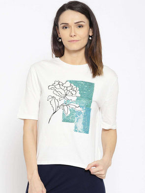 Cottonworld Women's Tshirts WOMEN'S 100% COTTON RFD REGULAR FIT TSHIRT