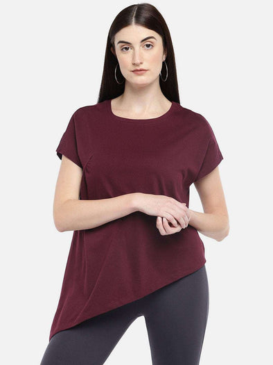 Cottonworld Women's Tshirts WOMEN'S 100% COTTON WINE A LINE TSHIRT